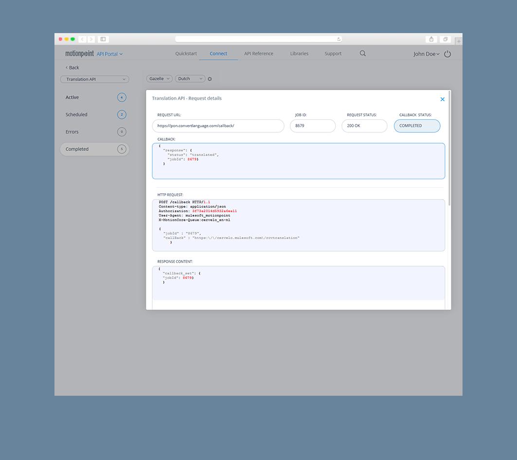 MotionPoint API