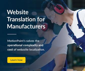 Website Translation for Manufacturers.